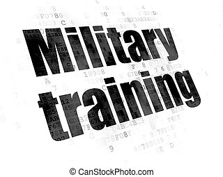 Education concept: Military Training on Digital background