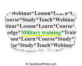 Education concept: Military Training on Paper background