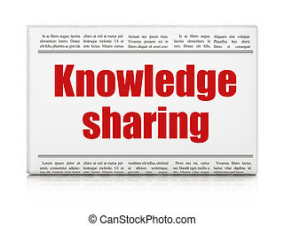 Education concept: newspaper headline Knowledge Sharing on ...