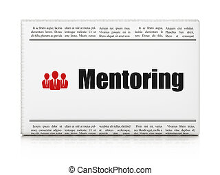 Education concept: newspaper with Mentoring and Business...