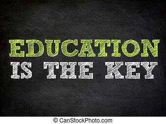EDUCATION concept on chalkboard
