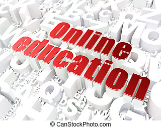 Education concept: Online Education on alphabet background