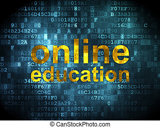 Education concept: Online Education on digital background