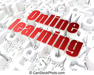 Education concept: Online Learning on alphabet background