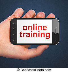 Education concept: Online Training on smartphone