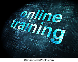 Education concept: Online Training on digital background
