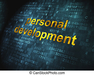 Education concept: Personal Development on digital background