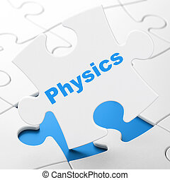 Education concept: Physics on puzzle background