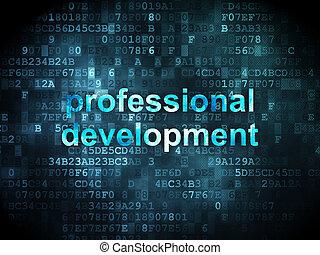 Education concept: professional development on digital