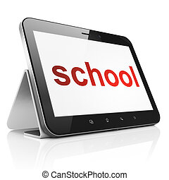 Education concept: School on tablet pc computer