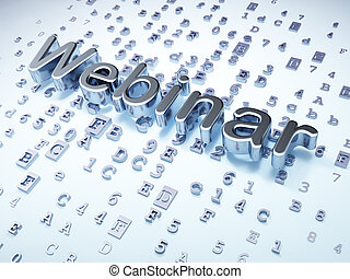 Education concept: Silver Webinar on digital background