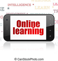 Education concept: Smartphone with Online Learning on display