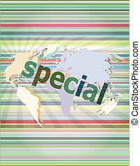 Education concept: Special word on digital background vector illustration