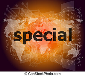Education concept: Special word on digital background