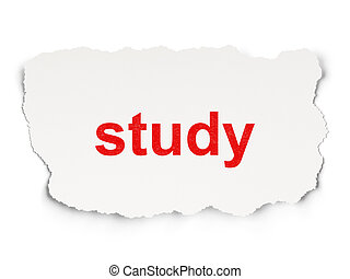 Education concept: Study on Paper background