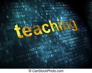Education concept: Teaching on digital background