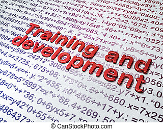 Education concept: Training and Development on Education...