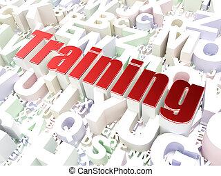 Education concept: Training on alphabet background