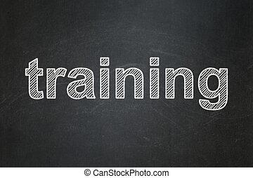 Education concept: Training on chalkboard background