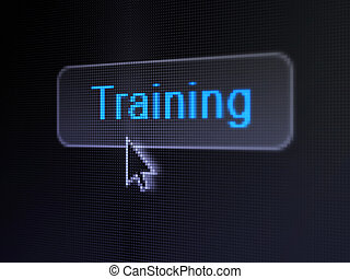 Education concept: Training on digital button background