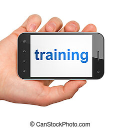 Education concept: Training on smartphone