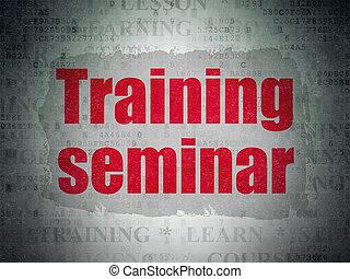 Education concept: Training Seminar on Digital Data Paper background