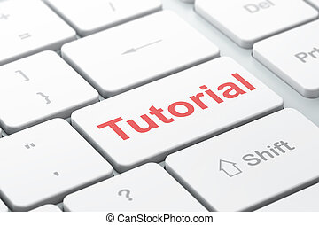 Education concept: Tutorial on computer keyboard background