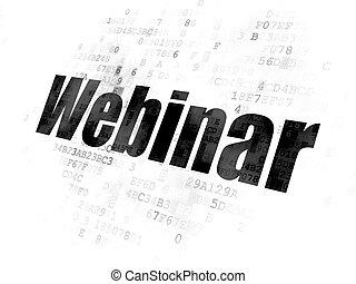 Education concept: Webinar on Digital background