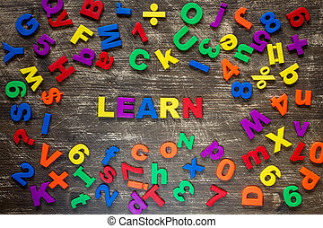 Education concept with colorful letters