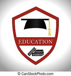 education, conception, vecteur, illustration.