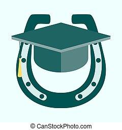 Education Cup, horseshoe. Vector Illustration.