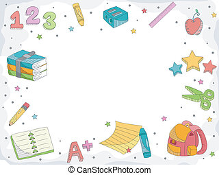Education Doodle - Doodle Illustration Featuring Letters,...