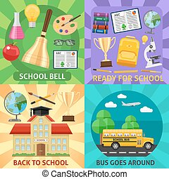 Education Flat Compositions