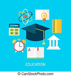 Education Flat Concept