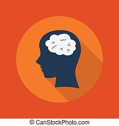 Education Flat Icon. Brain