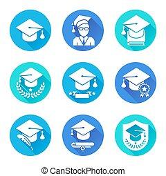 Education Flat Icons Set