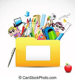 Education Folder - illustration of education folder with...