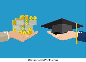Education for money concept.