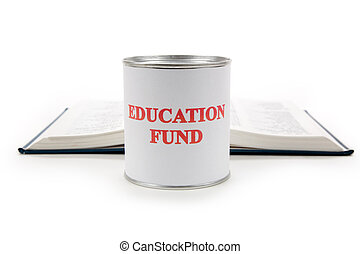 Education fund and book - Education fund, concept of saving ...