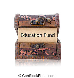 Education fund word.