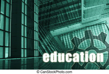 Education Futuristic as a Art Abstract Background