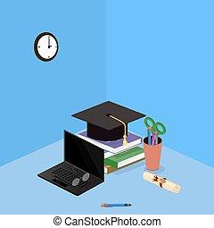 Education graduation certificate