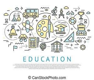 Education Horizontal Concept