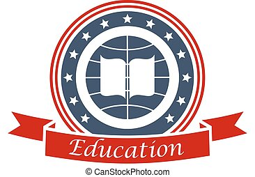 Education icon for university, college, academy