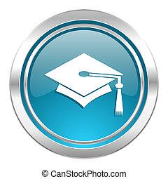 education icon, graduation sign