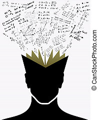 Education icons back to school human head book. - Back to...