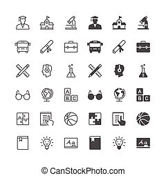 Education icons, included normal and enable state.