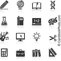Education Icons set 1.