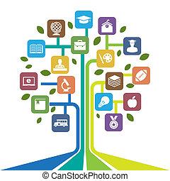Education icons set.Illustration EPS10
