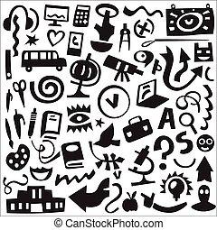 Education - icons set